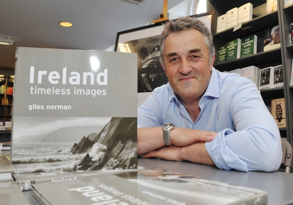 REPRO FREE Renowned photographer, Giles Norman, who hosted a reception and signing of his new book 'Ireland ?timeless images' at Hodges Figgis in Dawson Street. Picture. John Allen